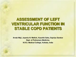 ASSESSMENT OF LEFT VENTRICULAR FUNCTION IN STABLE COPD PATIENTS