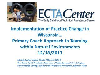 Michelle Davies, Program Director RESource, CESA 5