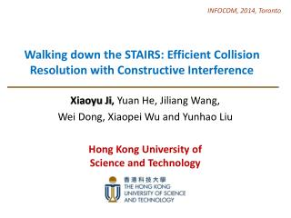 Walking down the STAIRS: Efficient Collision Resolution with Constructive Interference