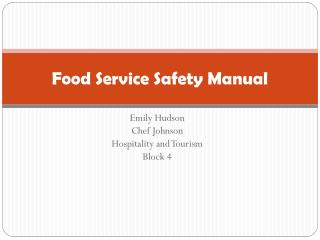 Food Service Safety Manual