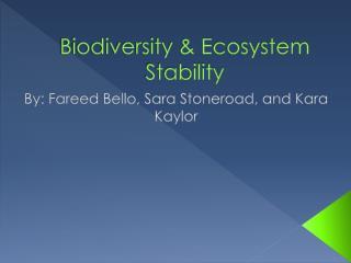 Biodiversity & Ecosystem Stability