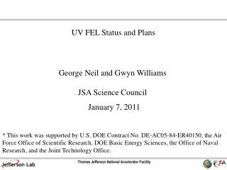 George Neil and Gwyn Williams JSA Science Council