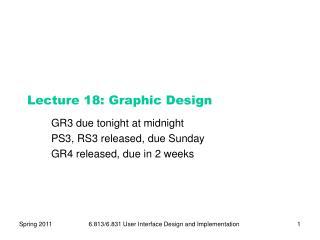 Lecture  18:  Graphic Design