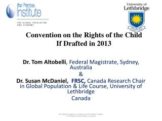 Convention on the Rights of the Child If Drafted in 2013