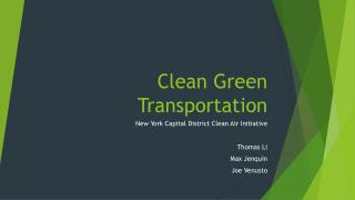 Clean Green Transportation