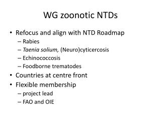 WG zoonotic NTDs