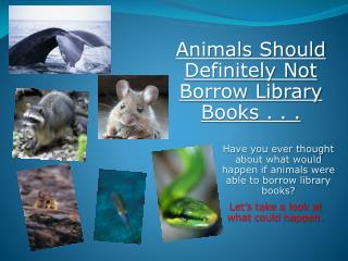 Have you ever thought about what would happen if animals were able to borrow library books?