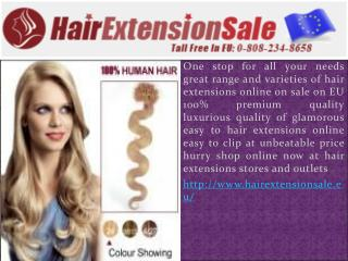 Human hair extensions in Eu