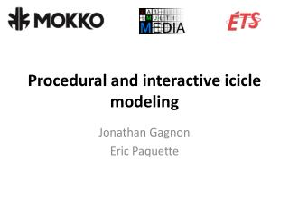 Procedural and interactive icicle modeling