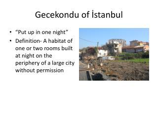 Gecekondu of İstanbul
