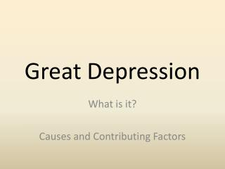 Great Depression
