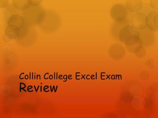 Collin College Excel Exam