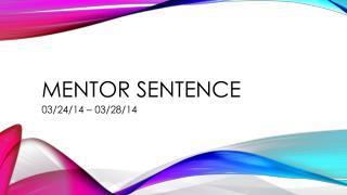 Mentor Sentence