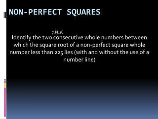 Non-Perfect Squares