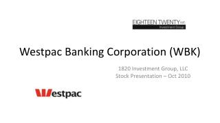 Westpac Banking Corporation (WBK)