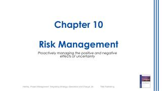 Chapter  10 Risk Management
