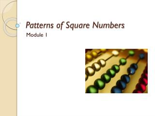 Patterns of Square Numbers
