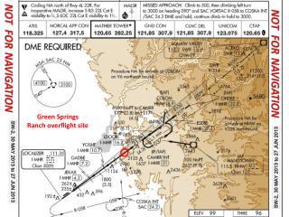 Green Springs Ranch  overflight  site