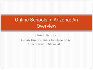 Online Schools in Arizona: An Overview