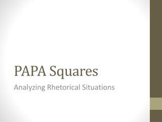 PAPA Squares