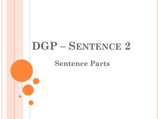 DGP � Sentence  2