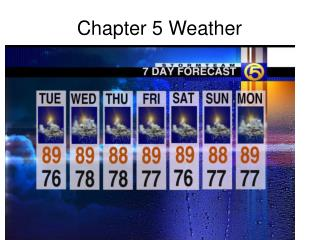 Chapter 5 Weather
