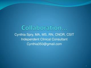 Collaboration...