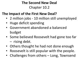 The Second New Deal Chapter 10.2