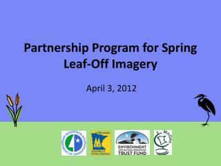Partnership Program for Spring Leaf-Off Imagery