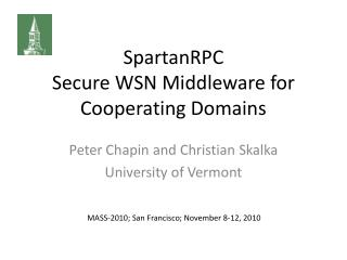 SpartanRPC Secure WSN Middleware for Cooperating Domains