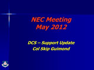 NEC Meeting May 2012