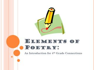 Elements of Poetry:
