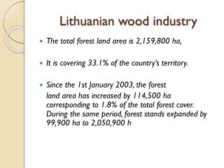 Lithuanian wood industry