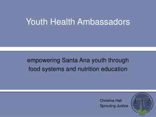Youth Health Ambassadors