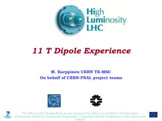11 T Dipole Experience