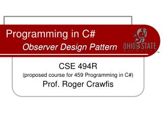 Programming in C  Observer Design Pattern