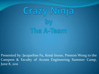 Crazy Ninja by The A-Team
