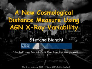 A New Cosmological Distance Measure Using AGN X-Ray Variability