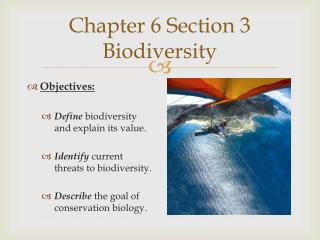 Chapter 6 Section 3 Biodiversity