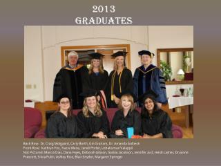 2013  Graduates