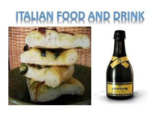 Italian food and drink