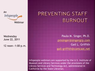 Preventing Staff Burnout