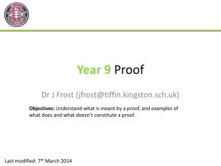 Year 9  Proof