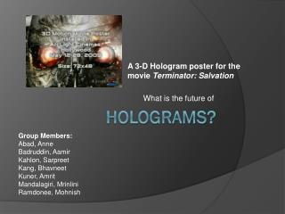 Holograms?