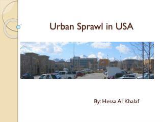 Urban Sprawl in USA