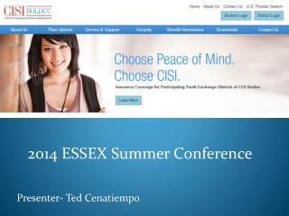 2014 ESSEX Summer Conference Presenter- Ted Cenatiempo