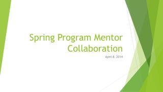 Spring Program Mentor Collaboration