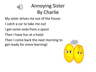Annoying  S ister By Charlie
