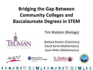 Bridging the Gap Between Community Colleges and Baccalaureate Degrees in STEM