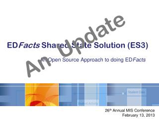 ED Facts  Shared State Solution (ES3)